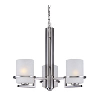 Forte Lighting 2404-03-55 Signature 3 Light 21 inch Brushed Nickel Chandelier Ceiling Light