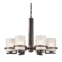 Forte Lighting Antique Bronze Steel Chandeliers