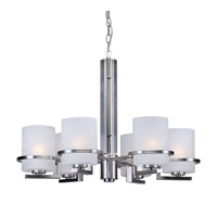 Forte Lighting 2405-06-55 Signature 6 Light 28 inch Brushed Nickel Chandelier Ceiling Light