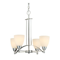 Forte Lighting 2423-04-55 Signature 4 Light 22 inch Brushed Nickel Chandelier Ceiling Light