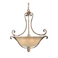 Forte Lighting 2494-06-41 Signature 6 Light 30 inch Rustic Sienna Bowl Pendant Ceiling Light
