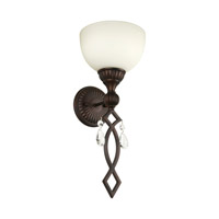 Forte Lighting 2497-01-32 Signature 1 Light 8 inch Antique Bronze Wall Sconce Wall Light