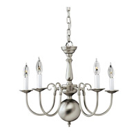 Forte Lighting 2500-05-55 Signature 5 Light 23 inch Brushed Nickel Chandelier Ceiling Light