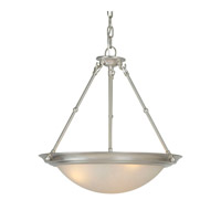 Forte Lighting 2516-03-55 Signature 3 Light 18 inch Brushed Nickel Bowl Pendant Ceiling Light