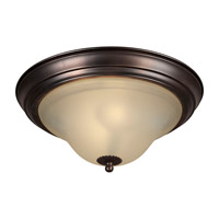 Forte Lighting 2530-02-32 Signature 2 Light 13 inch Antique Bronze Flush Mount Ceiling Light