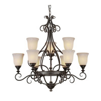 Forte Lighting 2539-09-64 Signature 9 Light 33 inch Bordeaux Chandelier Ceiling Light photo thumbnail