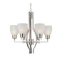 Forte Lighting 2555-06-55 Signature 6 Light 24 inch Brushed Nickel Chandelier Ceiling Light