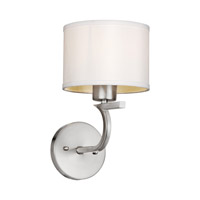 Forte Lighting 2562-01-55 Signature 1 Light 7 inch Brushed Nickel Wall Sconce Wall Light