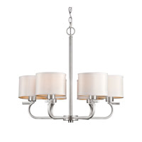 Forte Lighting 2562-06-55 Signature 6 Light 26 inch Brushed Nickel Chandelier Ceiling Light