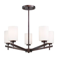Forte Lighting 2567-05-32 Signature 5 Light 24 inch Antique Bronze Chandelier Ceiling Light