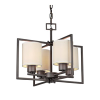 Forte Lighting 2570-04-32 Signature 4 Light 18 inch Antique Bronze Foyer Pendant Ceiling Light
