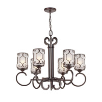 Forte Lighting 2584-06-32 Signature 6 Light 29 inch Antique Bronze Chandelier Ceiling Light