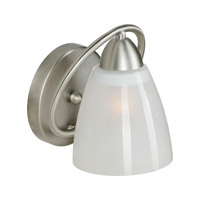 Forte Lighting 2590-01-55 Signature 1 Light 7 inch Brushed Nickel Wall Sconce Wall Light