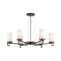 Signature 6 Light 28 inch Antique Bronze Chandelier Ceiling Light