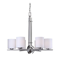 Forte Lighting 2602-06-55 Signature 6 Light 26 inch Brushed Nickel Chandelier Ceiling Light