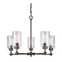Signature 5 Light 24 inch Antique Bronze Chandelier Ceiling Light