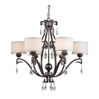 Forte Lighting 2621-06-32 Signature 6 Light 32 inch Antique Bronze Chandelier Ceiling Light
