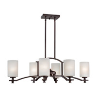 Forte Lighting 2625-06-32 Signature 6 Light 22 inch Antique Bronze Chandelier Ceiling Light