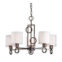 Forte Lighting 2627-05-32 Signature 5 Light 23 inch Antique Bronze Chandelier Ceiling Light