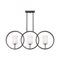 Forte Lighting 2628-03-32 Signature 3 Light 37 inch Antique Bronze Island Pendant Ceiling Light
