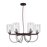 Forte Lighting 2630-06-32 Signature 6 Light 28 inch Antique Bronze Chandelier Ceiling Light