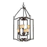 Forte Lighting 2633-06-64 Signature 6 Light 20 inch Bordeaux Foyer Pendant Ceiling Light