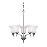 Forte Lighting 2638-05-55 Signature 5 Light 20 inch Brushed Nickel Chandelier Ceiling Light