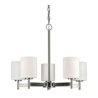 Forte Lighting 2645-05-55 Signature 5 Light 23 inch Brushed Nickel Chandelier Ceiling Light