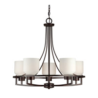 Forte Lighting 2647-05-32 Signature 5 Light 26 inch Antique Bronze Chandelier Ceiling Light