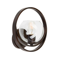 Forte Lighting 2649-01-32 Signature 1 Light 10 inch Antique Bronze Wall Sconce Wall Light