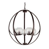 Forte Lighting 2649-05-32 Signature 5 Light 29 inch Antique Bronze Chandelier Ceiling Light