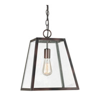 Forte Lighting 2652-01-32 Signature 1 Light 12 inch Antique Bronze Mini Pendant Ceiling Light photo thumbnail