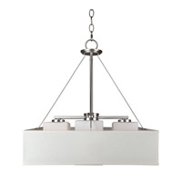 Forte Lighting 2658-04-55 Signature 4 Light 18 inch Brushed Nickel Foyer Pendant Ceiling Light