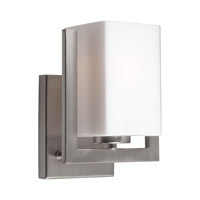 Forte Lighting 2669-01-55 Signature 1 Light 7 inch Brushed Nickel Wall Sconce Wall Light