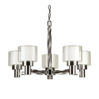 Forte Lighting 2691-05-55 Signature 5 Light 26 inch Brushed Nickel Chandelier Ceiling Light