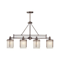 Forte Lighting 2692-04-32 Signature 4 Light 36 inch Antique Bronze Island Pendant Ceiling Light
