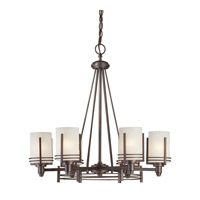Forte Lighting 2692-06-32 Signature 6 Light 26 inch Antique Bronze Chandelier Ceiling Light