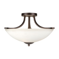 Forte Lighting 2697-03-32 Signature 3 Light 17 inch Antique Bronze Semi Flush Mount Ceiling Light