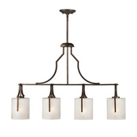 Forte Lighting 2702-04-32 Signature 4 Light 36 inch Antique Bronze Island Pendant Ceiling Light