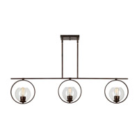 Forte Lighting 2703-03-32 Signature 3 Light 45 inch Antique Bronze Island Pendant Ceiling Light