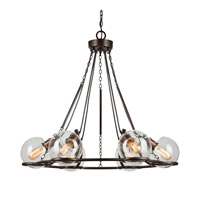 Forte Lighting 2706-06-32 Signature 6 Light 30 inch Antique Bronze Chandelier Ceiling Light