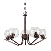 Forte Lighting 2707-05-32 Signature 5 Light 19 inch Antique Bronze Chandelier Ceiling Light