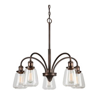 Forte Lighting 2708-05-32 Signature 5 Light 26 inch Antique Bronze Chandelier Ceiling Light