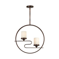 Forte Lighting 2710-02-32 Signature 2 Light 20 inch Antique Bronze Foyer Pendant Ceiling Light