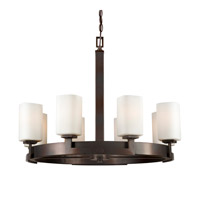 Forte Lighting 2713-08-32 Signature 8 Light 28 inch Antique Bronze Chandelier Ceiling Light