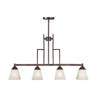 Forte Lighting 2784-04-32 Signature 4 Light 35 inch Antique Bronze Island Pendant Ceiling Light