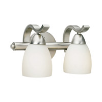 Forte Lighting 5045-02-55 Signature 2 Light 12 inch Brushed Nickel Vanity Light Wall Light