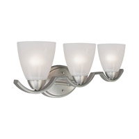 Forte Lighting 5081-03-55 Signature 3 Light 25 inch Brushed Nickel Vanity Light Wall Light