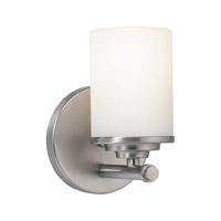 Forte Lighting 5105-01-55 Signature 1 Light 5 inch Brushed Nickel Vanity Light Wall Light
