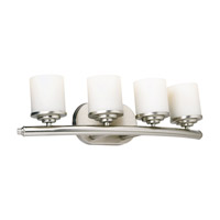 Signature 4 Light 24 inch Brushed Nickel Vanity Light Wall Light